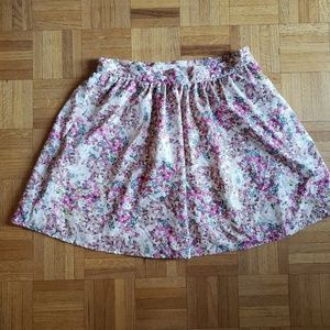 Forever 21 Skirt, White and Floral